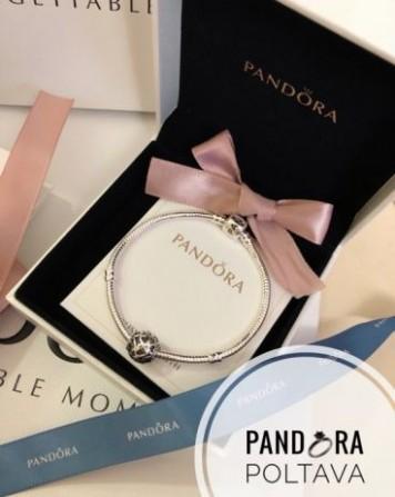 браслет Pandora основа с шармом коробка и пакет пандора браслеты