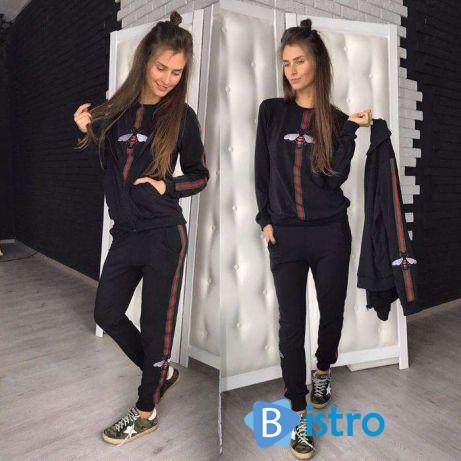 Женский спортивный костюм Gucci Гучи  тёплый с начёсом  трикотаж ... a74ee827e3211